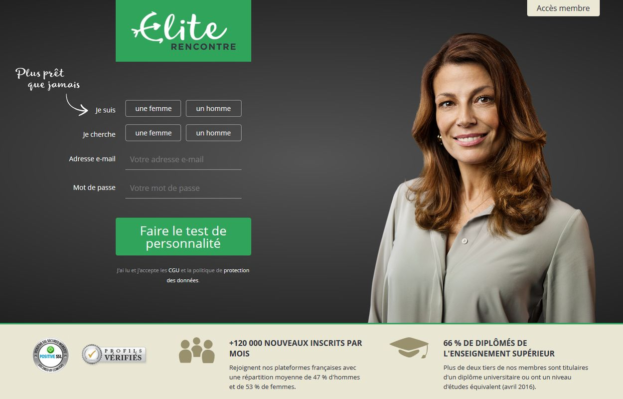 test et avis du site elite rencontre. Black Bedroom Furniture Sets. Home Design Ideas
